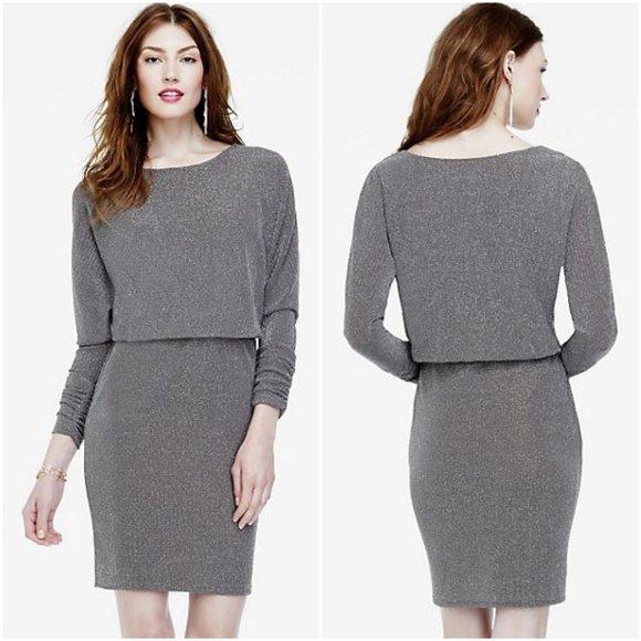 Jessica Howard Dresses & Skirts - Jessica Howard Long Ruched Sleeve Blouson Dress
